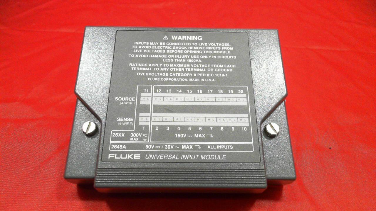 Fluke Data Logger Universal Input Module 2645 2680-FAI