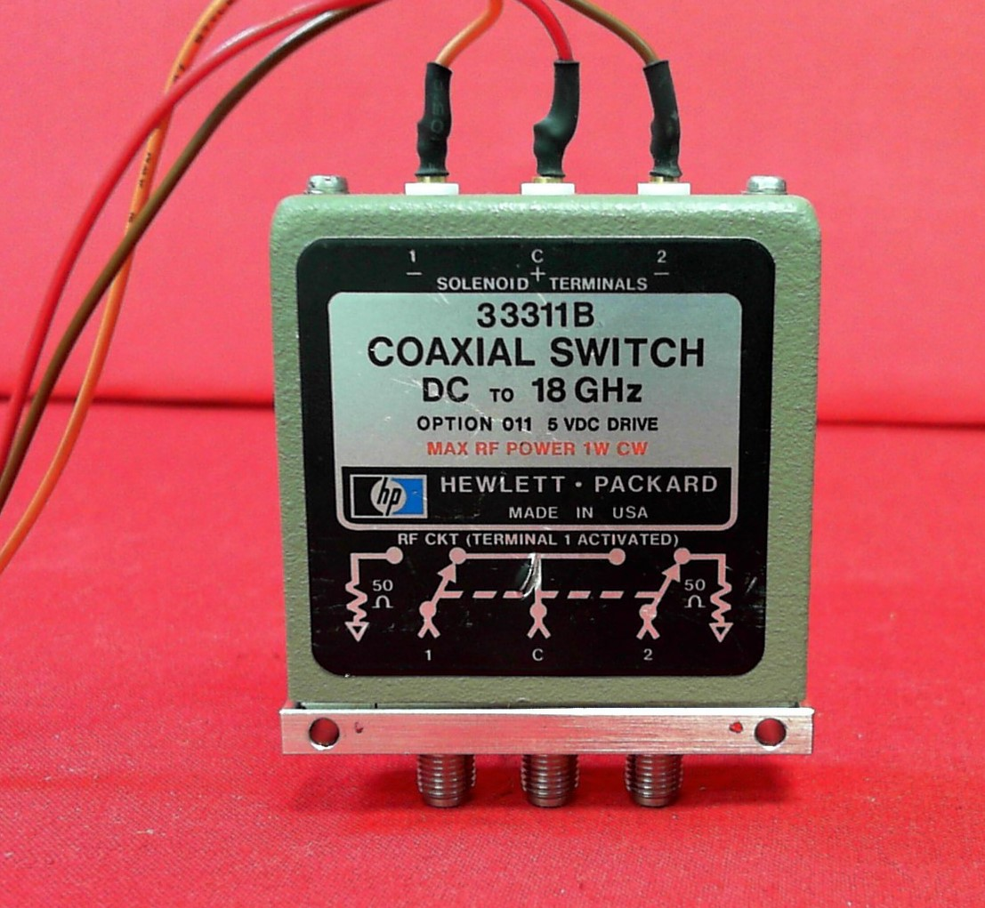 Hp Agilent Keysight 33311-60045 DC 4 GHz SMA 1 Watt SPDT Coaxial Switch