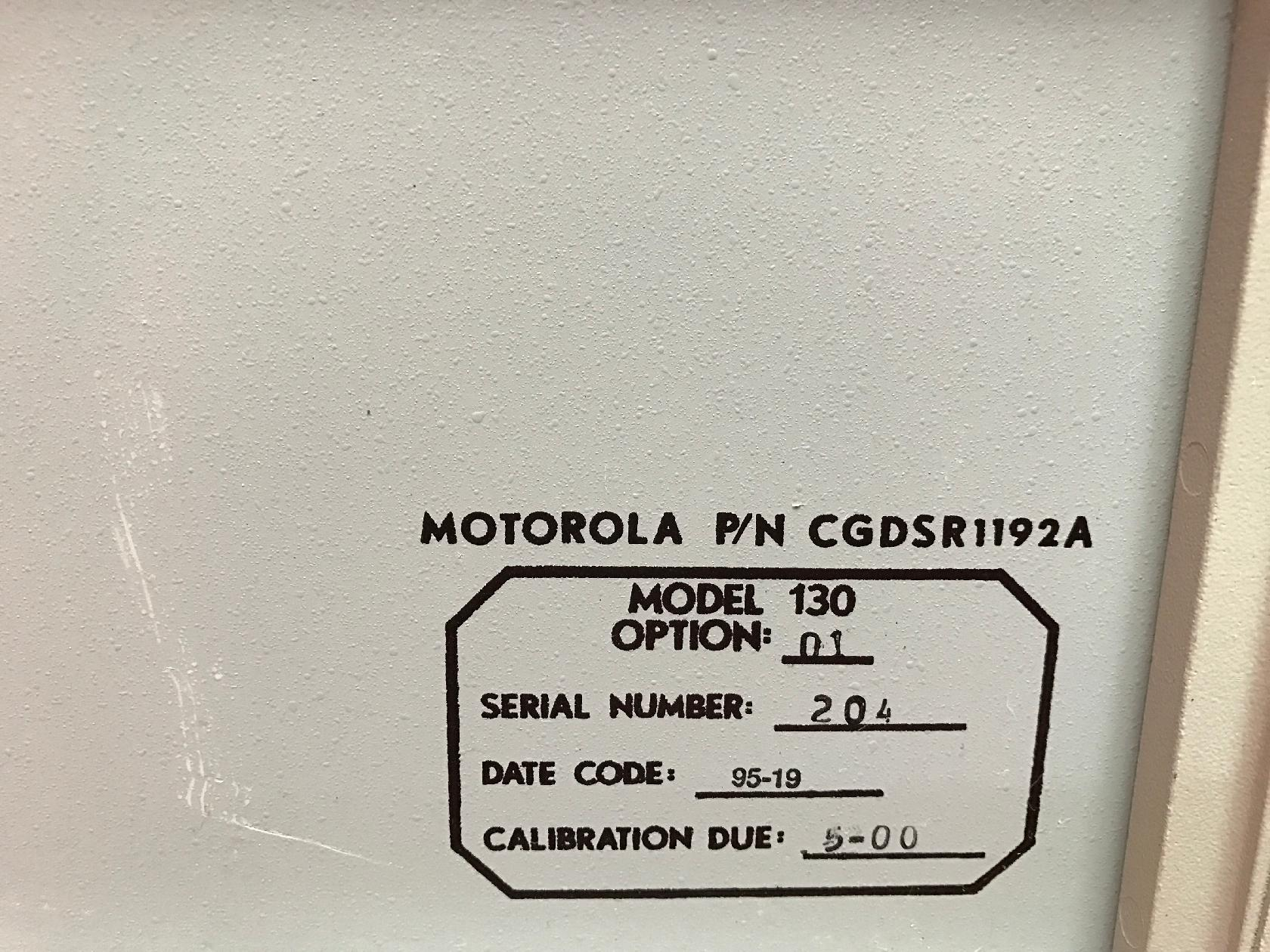 Alltest Instruments – Motorola 130ERC130 AKA Motorola R1192A