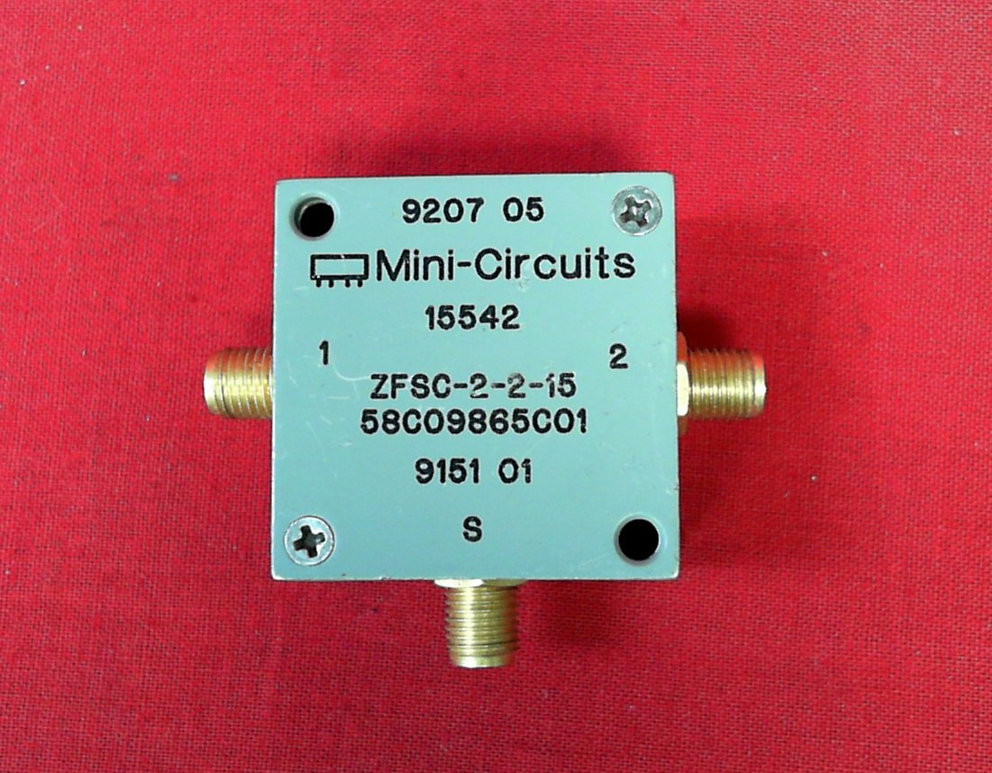Mini-circuits ZFSC-2-2-15 PWR SPLTR CMBD / SMA / RoHS 10 TO 1000MHz
