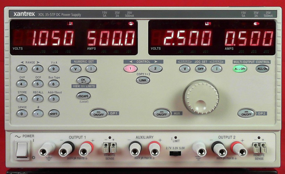Xantrex XDL35-5TP 215 Watts, Programmable Linear DC Power Supply