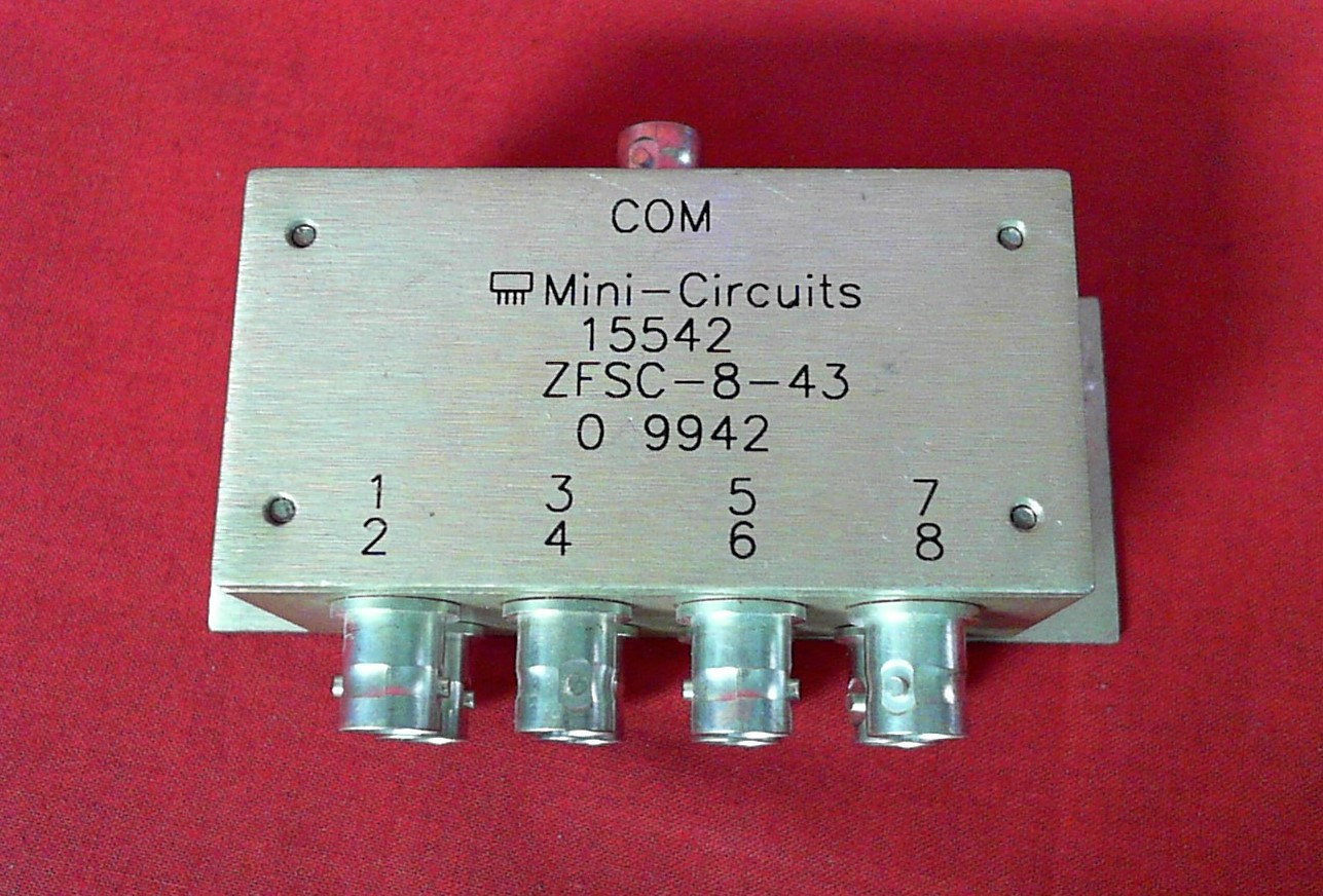 Mini-circuits ZFSC-8-43 POWER SPLITTER/COMBINER, 10 - 1000MHZ