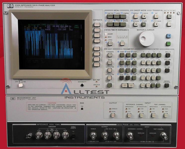 hp 4194a impedance analyzer manual